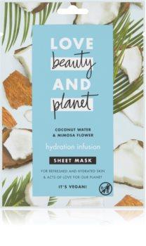 Love Beauty & Planet Hydration Infusion Coconut Water & Mimosa Flower plátýnková maska s hydratačním účinkem