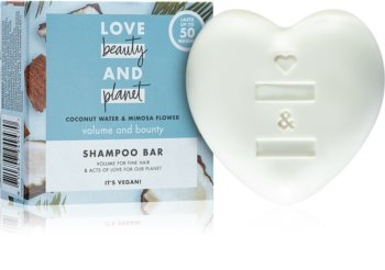 Love Beauty & Planet Volume and Bounty szilárd sampon a hajtérfogat növelésére