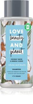 Love Beauty & Planet Volume and Bounty шампунь для ослабленого волосся
