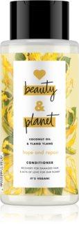 Love Beauty & Planet Hope and Repair regeneráló kondicionáló a károsult hajra