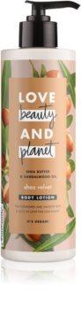 Love Beauty & Planet Shea Velvet odżywcze mleczko do ciała