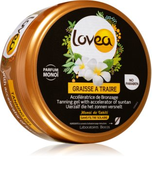 Lovea Tanning Gel Monoi gelový krém pro intenzivní opálení