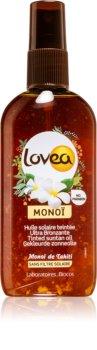 Lovea Monoï spray teinté pour accélérer le bronzage