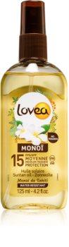 Lovea Monoï huile solaire nourrissante SPF 15