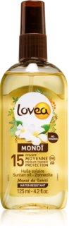 Lovea Monoi слънцезащитно подхранващо олио SPF 15