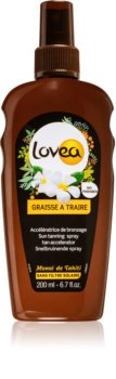 Lovea Tanning Gel Monoi Spray Til at fremskynde solbruningen