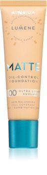 Lumene Matte Oil-Control Foundation fond de teint fluide pour peaux grasses et mixtes