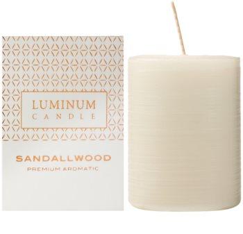 Luminum Candle Premium Aromatic Sandalwood candela profumata medio (Ø 60 - 80 mm, 32 h)