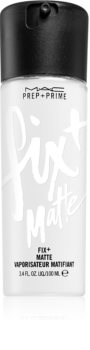 MAC Cosmetics  Prep + Prime Fix+ Mattifiying Mist матиращ и фиксиращ спрей върху фон дьо тен