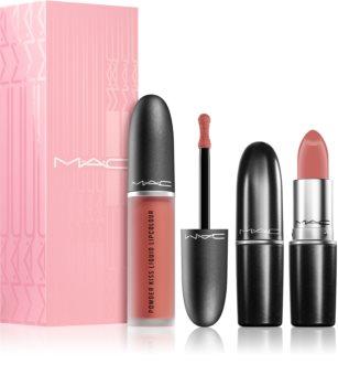 MAC Cosmetics  Powder Kiss Lip Kit: Like a Daughter szett (hölgyeknek)