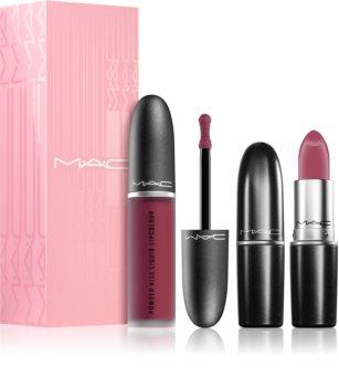 MAC Cosmetics  Powder Kiss Lip Kit: Like a Mother козметичен комплект за жени