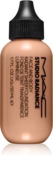 MAC Cosmetics  Studio Radiance Face and Body Radiant Sheer Foundation lehký make-up na obličej a tělo