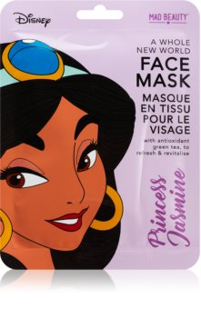 Mad Beauty Disney Princess Jasmine ревитализираща платнена маска с екстракт от зелен чай