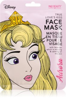 Mad Beauty Disney Princess Aurora maschera lenitiva in tessuto con lavanda