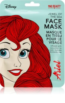Mad Beauty Disney Princess Ariel Moisturising face sheet mask With Extracts Of Cucumber
