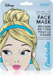 Mad Beauty Disney Princess Cinderella plátýnková maska pro rozjasnění a vitalitu pleti