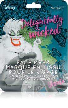 Mad Beauty Disney Villains Ursula mască textilă hidratantă cu extracte de castravete