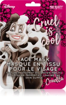Mad Beauty Disney Villains Cruella masque tissu à l'huile de coco
