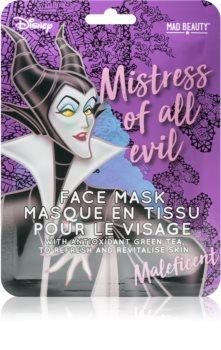 Mad Beauty Disney Villains Maleficent revitalizačná plátenná maska s výťažkom zeleného čaju