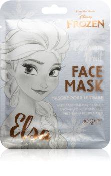 Mad Beauty Frozen Elsa plátýnková maska se zjemňujícím a osvěžujícím účinkem