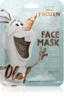Mad Beauty Frozen Olaf платнена маска с силно хидратиращ и подхранващ ефект