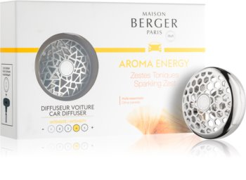 Maison Berger Paris Car Aroma Energy vůně do auta clip (Sparkling Zest)