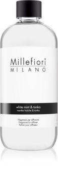 Millefiori Natural White Mint & Tonka refill för aroma diffuser