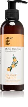 Make Me BIO Orange Energy gel nettoyant pour peaux normales à mixtes