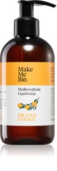 Make Me BIO Orange Energy savon liquide nourrissant avec pompe doseuse