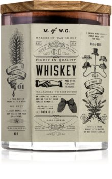 Makers of Wax Goods Whiskey candela profumata con stoppino in legno
