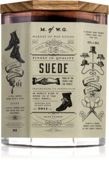 Makers of Wax Goods Suede lumânare parfumată  cu fitil din lemn