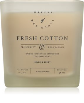 Makers of Wax Goods Fresh Cotton scented candle