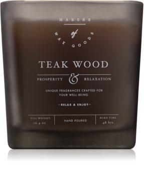 Makers of Wax Goods Teak Wood vonná sviečka