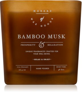 Makers of Wax Goods Bamboo Musk scented candle