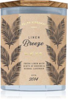 Makers of Wax Goods Palms Hideaway Linen Breeze doftljus