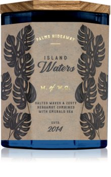 Makers of Wax Goods Palms Hideaway Island Waters scented candle
