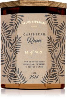Makers of Wax Goods Palms Hideaway Caribbean Rum Tuoksukynttilä