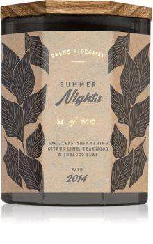 Makers of Wax Goods Palms Hideaway Summer Nights candela profumata
