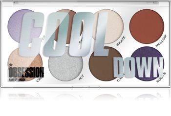 Makeup Obsession Cool Down paletă cu farduri de ochi
