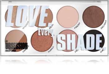 Makeup Obsession Love Every Shade paletka očních stínů