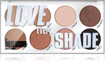 Makeup Obsession Love Every Shade szemhéjfesték paletta