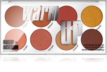 Makeup Obsession Warm Up paletka očních stínů