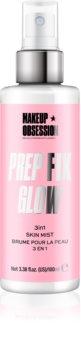 Makeup Obsession Prep Fix Glow озаряващ фиксиращ спрей