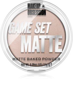 Makeup Obsession Game Set Matte zapečený matující pudr