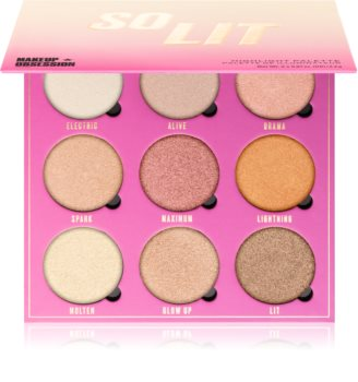 Makeup Obsession So Lit Highlighting Palette