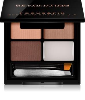 Makeup Revolution Focus & Fix kit per sopracciglia perfette