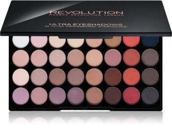 Makeup Revolution Flawless Matte 2 paleta de sombras  com espelho pequeno