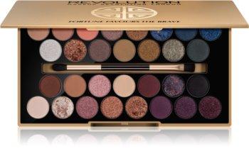 Makeup Revolution Fortune Favours the Brave paleta senčil za oči z ogledalom in aplikatorjem