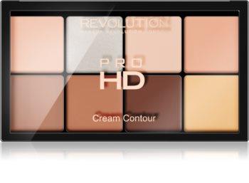 Makeup Revolution Ultra Pro HD Fair paleta na kontury obličeje krémová