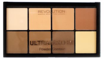Makeup Revolution Ultra Pro HD Light Medium paleta de contorno de rostro en polvo